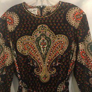 Vintage Youthful Fashions Maxi Rhinestone Dress